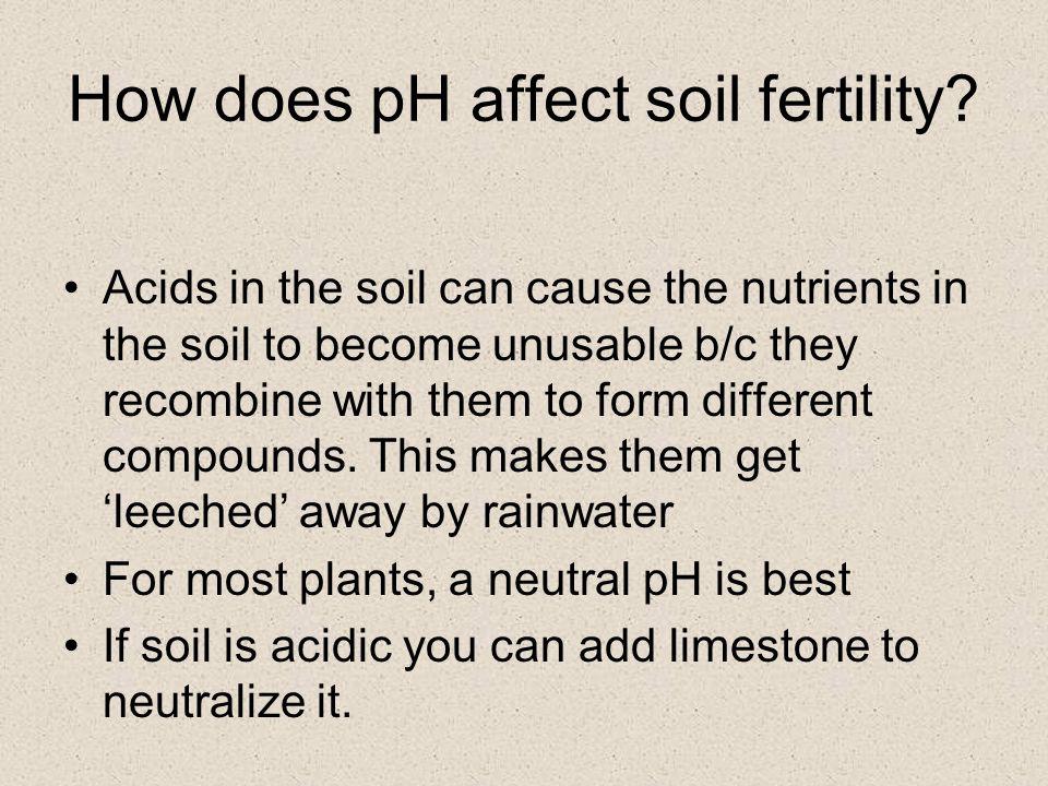 How does pH affect soil fertility.