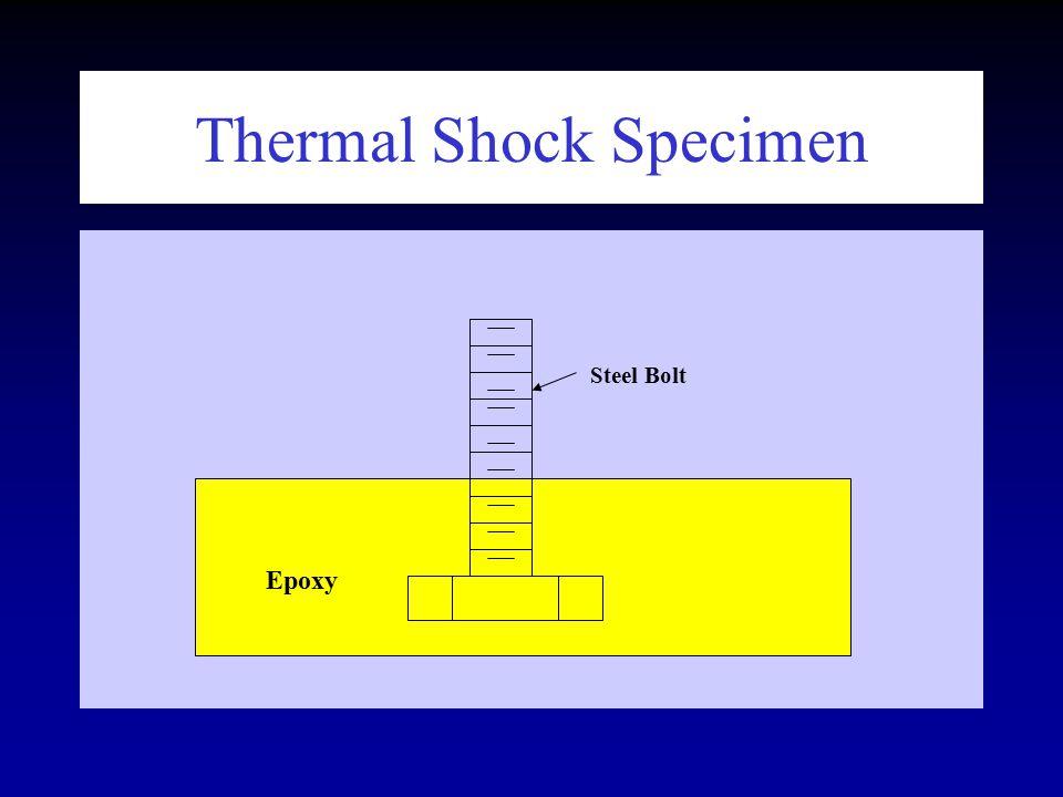 Thermal Shock Specimen Epoxy Steel Bolt