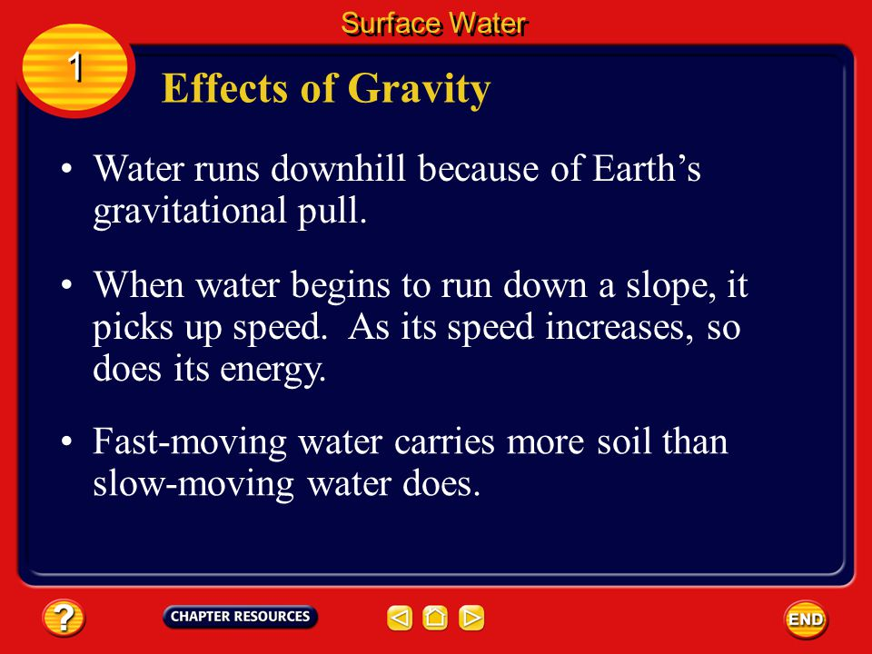 As water moves throughout a river system, it loses some of its energy of motion.
