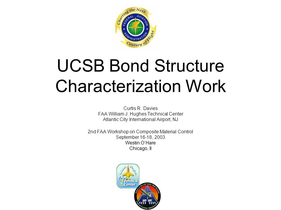 UCSB Bond Structure Characterization Work Curtis R.