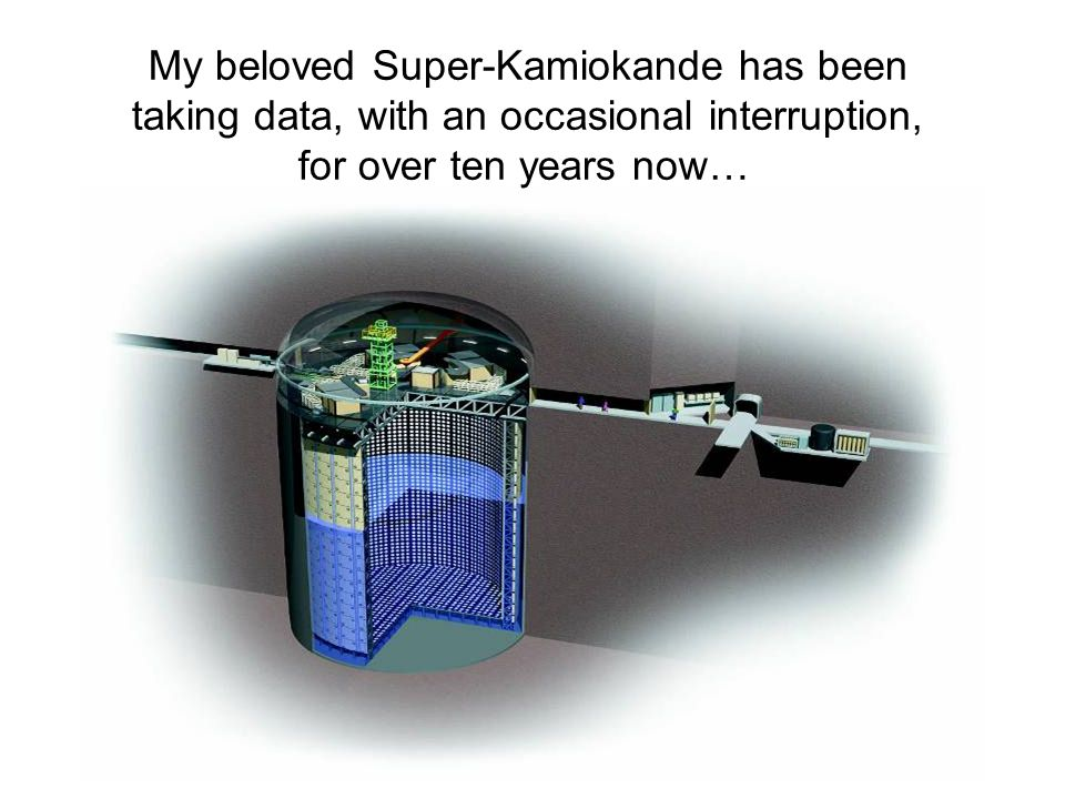My beloved Super-Kamiokande has been taking data, with an occasional interruption, for over ten years now…