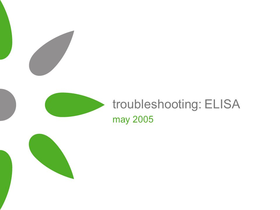 troubleshooting: ELISA may 2005