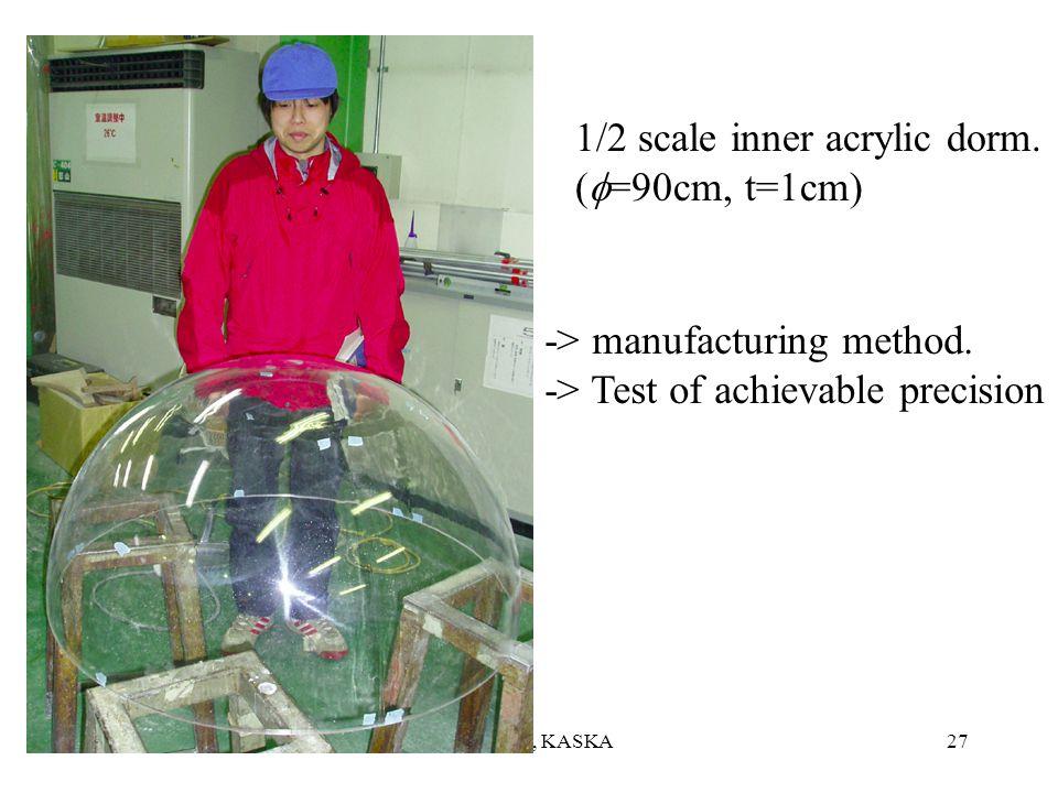 06.06F.Suekane, KASKA26 Inner acrylic vesselOuter acrylic vessel