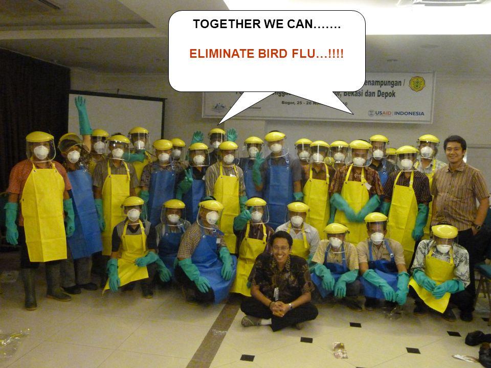 TOGETHER WE CAN……. ELIMINATE BIRD FLU…!!!!