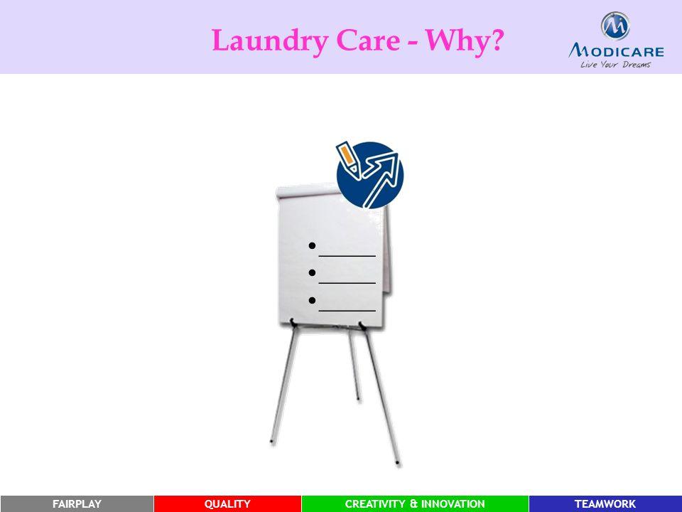FAIRPLAYQUALITYCREATIVITY & INNOVATIONTEAMWORK Laundry Care - Why? _____