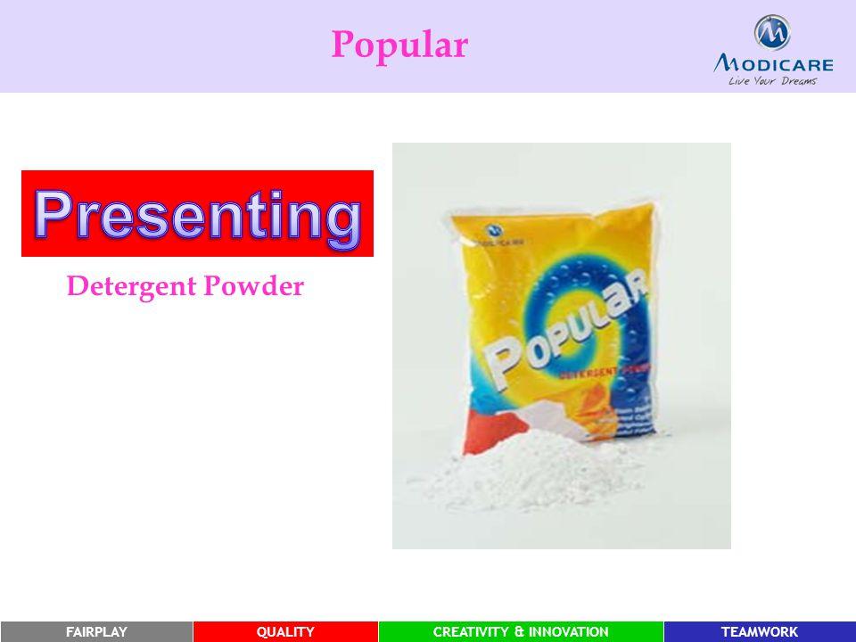 FAIRPLAYQUALITYCREATIVITY & INNOVATIONTEAMWORK Popular Detergent Powder
