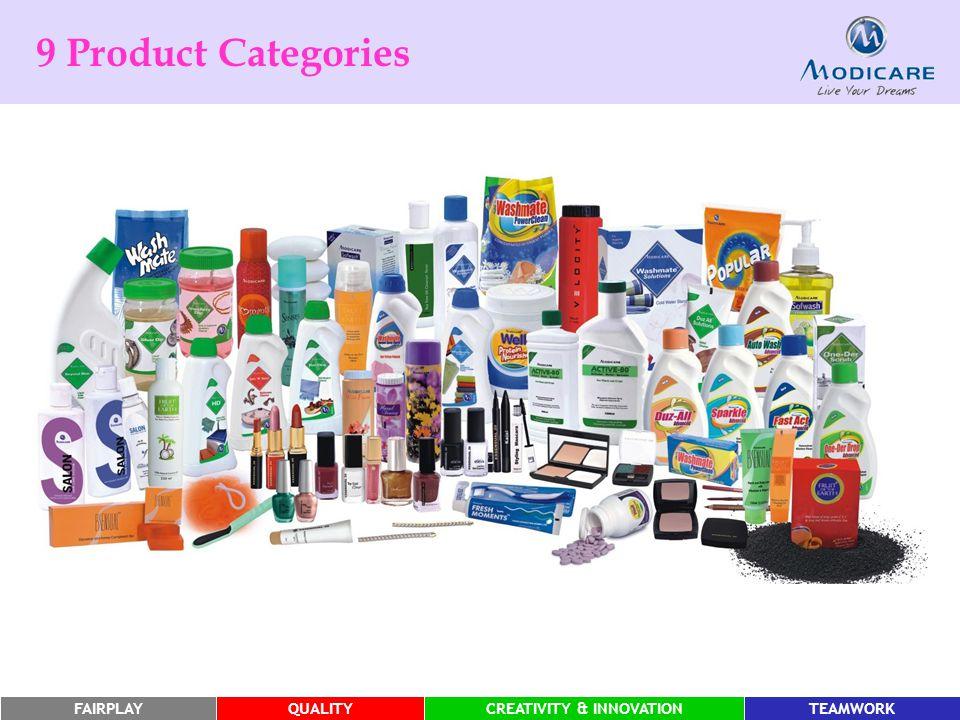 FAIRPLAYQUALITYCREATIVITY & INNOVATIONTEAMWORK 9 Product Categories