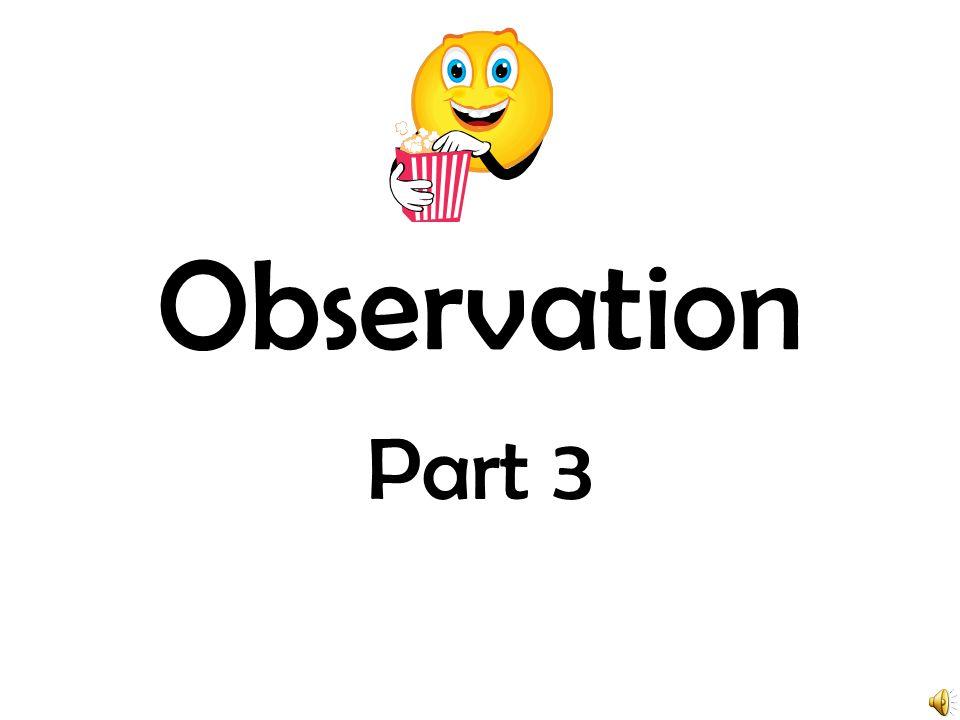 Observation Part 3