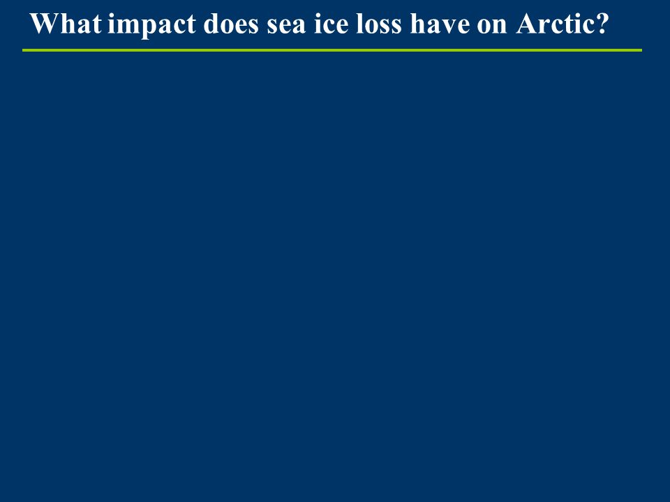 What impact does sea ice loss have on Arctic?
