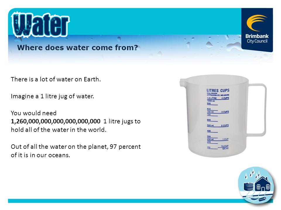 Water in our oceans Earth has five oceans.