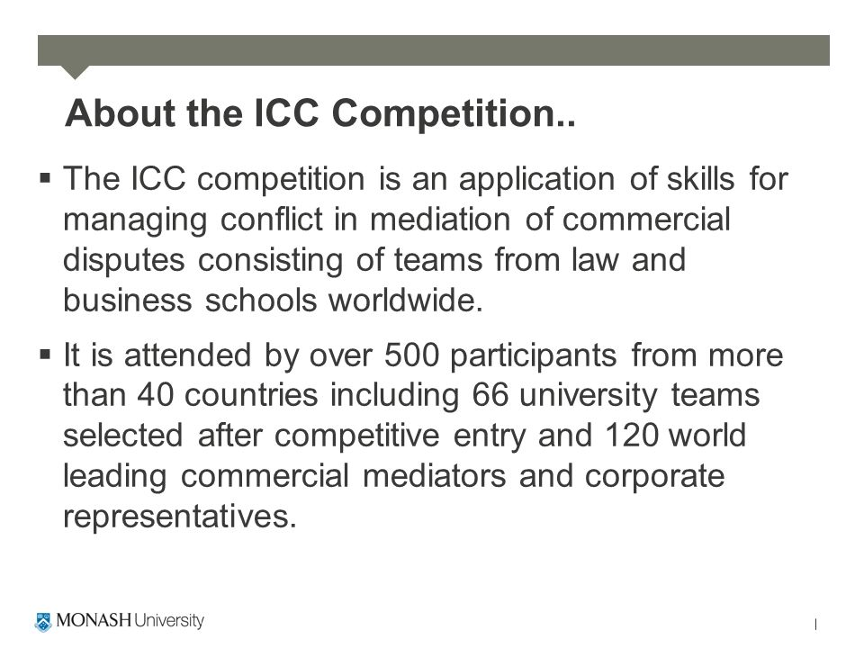 About the ICC Competition..