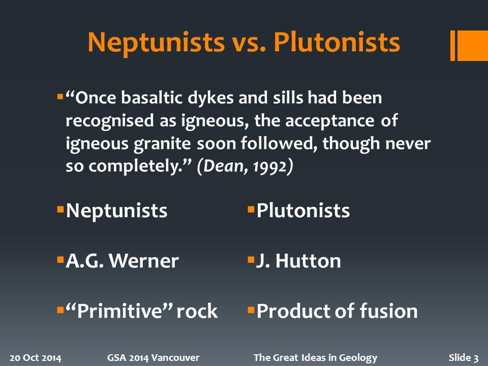 Neptunists vs.