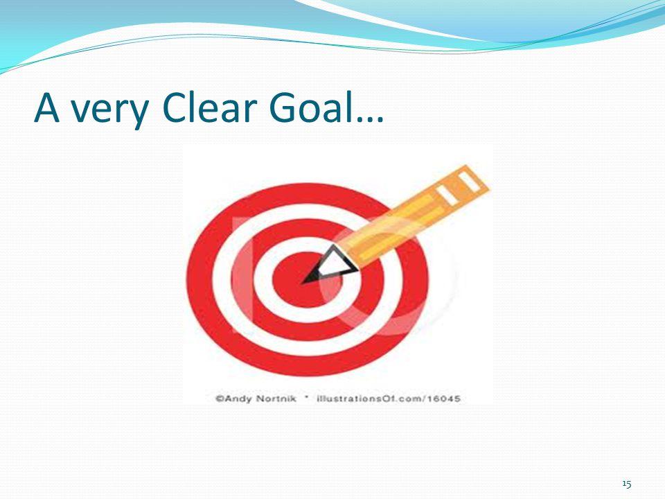 A very Clear Goal… 15
