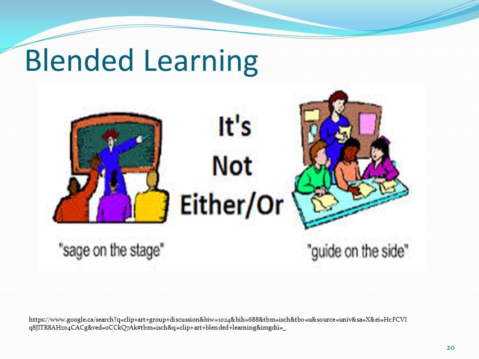 Blended Learning 20 https://www.google.ca/search?q=clip+art+group+discussion&biw=1024&bih=688&tbm=isch&tbo=u&source=univ&sa=X&ei=HcFCVI q8JITR8AHz04CACg&ved=0CCkQ7Ak#tbm=isch&q=clip+art+blended+learning&imgdii=_
