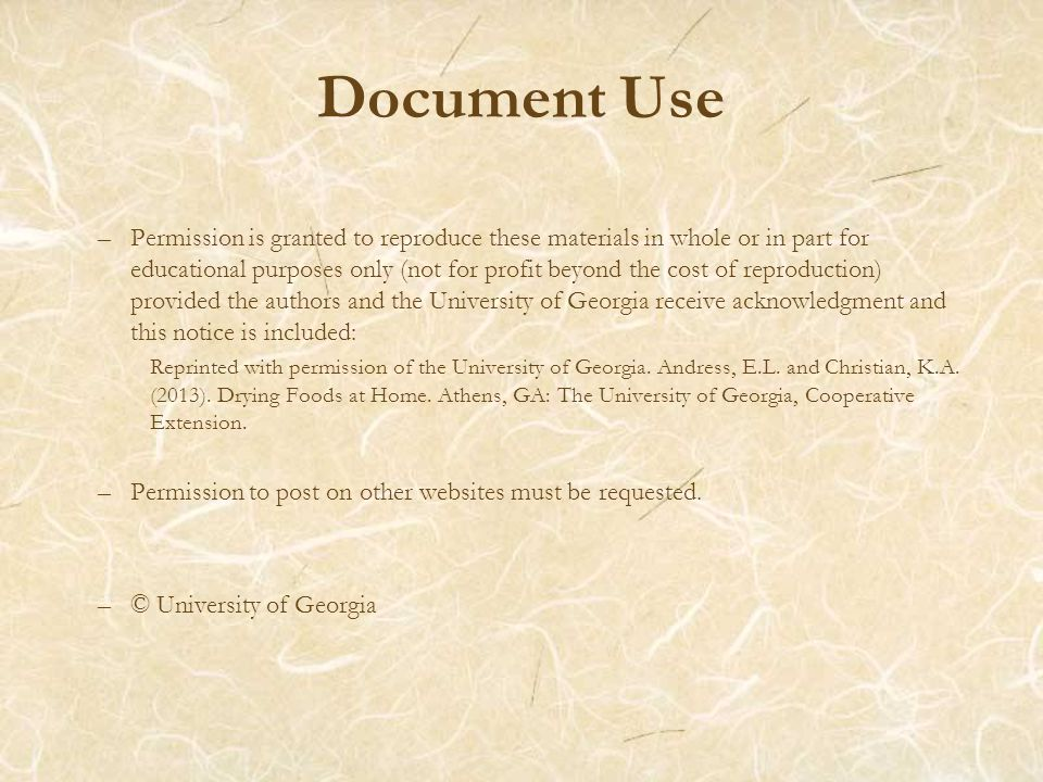 Document Use –Permission is granted to reproduce these materials in whole or in part for educational purposes only (not for profit beyond the cost of reproduction) provided the authors and the University of Georgia receive acknowledgment and this notice is included: Reprinted with permission of the University of Georgia.
