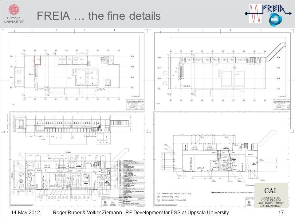 FREIA … the fine details 14-May-2012Roger Ruber & Volker Ziemann - RF Development for ESS at Uppsala University17