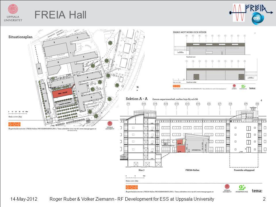 FREIA Hall 14-May-2012Roger Ruber & Volker Ziemann - RF Development for ESS at Uppsala University2