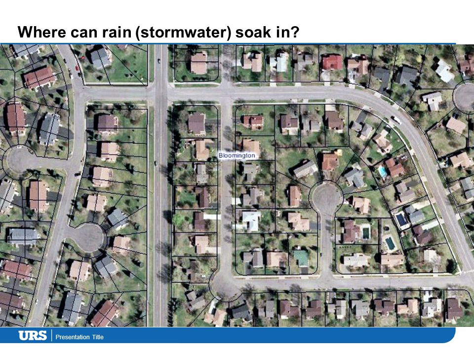 Presentation Title Where can rain (stormwater) soak in?