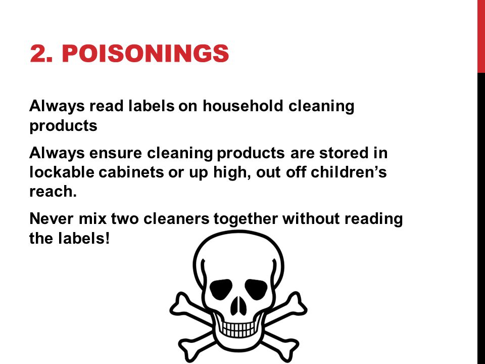 3.FIRE. Never use water to put out a grease fire; use baking soda or the pot lid.