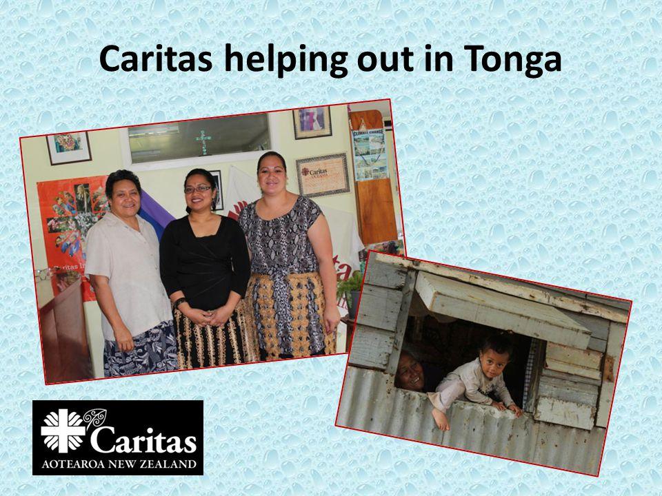 Caritas helping out in Tonga