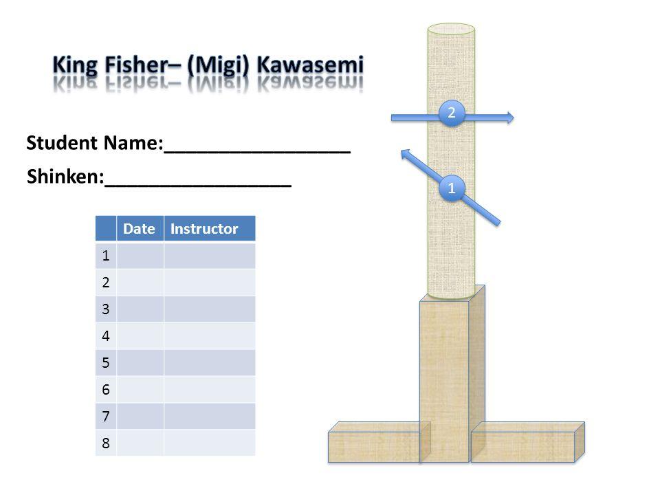 Student Name:_________________ DateInstructor 1 2 3 4 5 6 7 8 1 1 2 2 Shinken:_________________