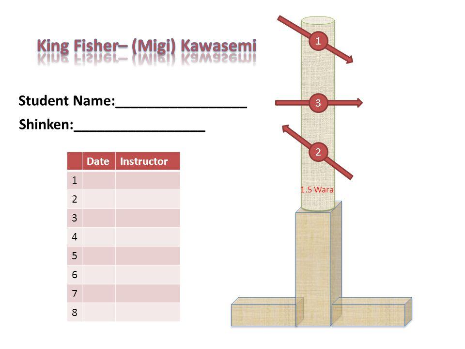 Student Name:_________________ DateInstructor 1 2 3 4 5 6 7 8 1 2 3 Shinken:_________________ 1.5 Wara