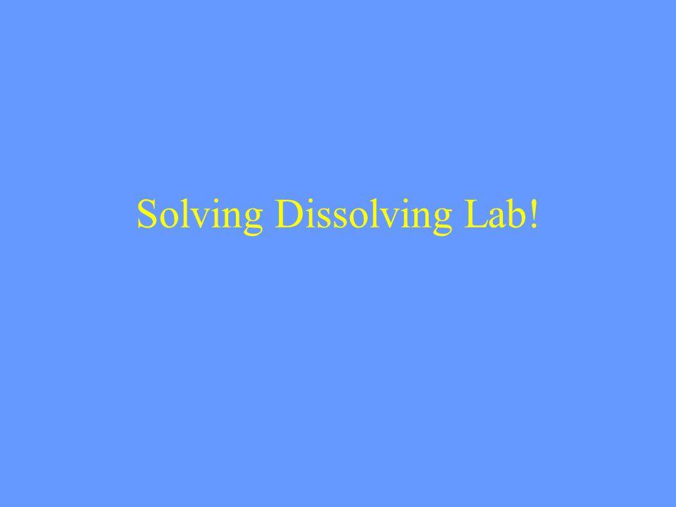 Solving Dissolving Lab!
