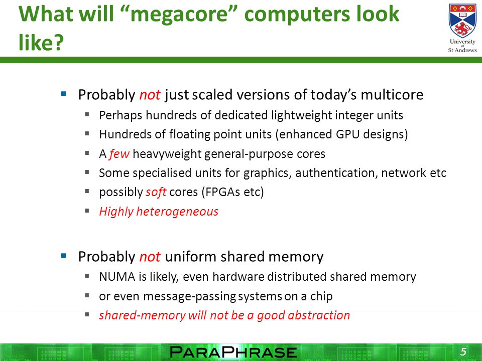 What will megacore computers look like.