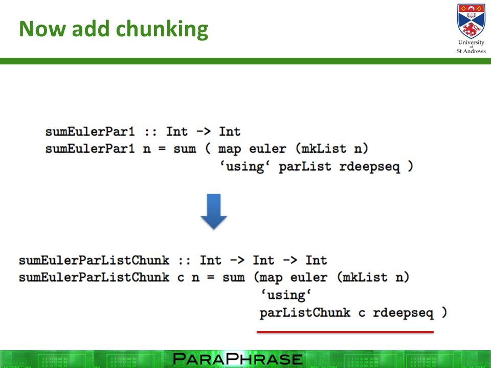 Now add chunking