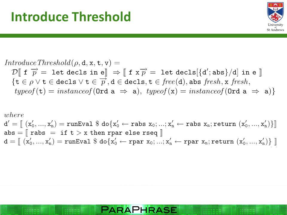 Introduce Threshold