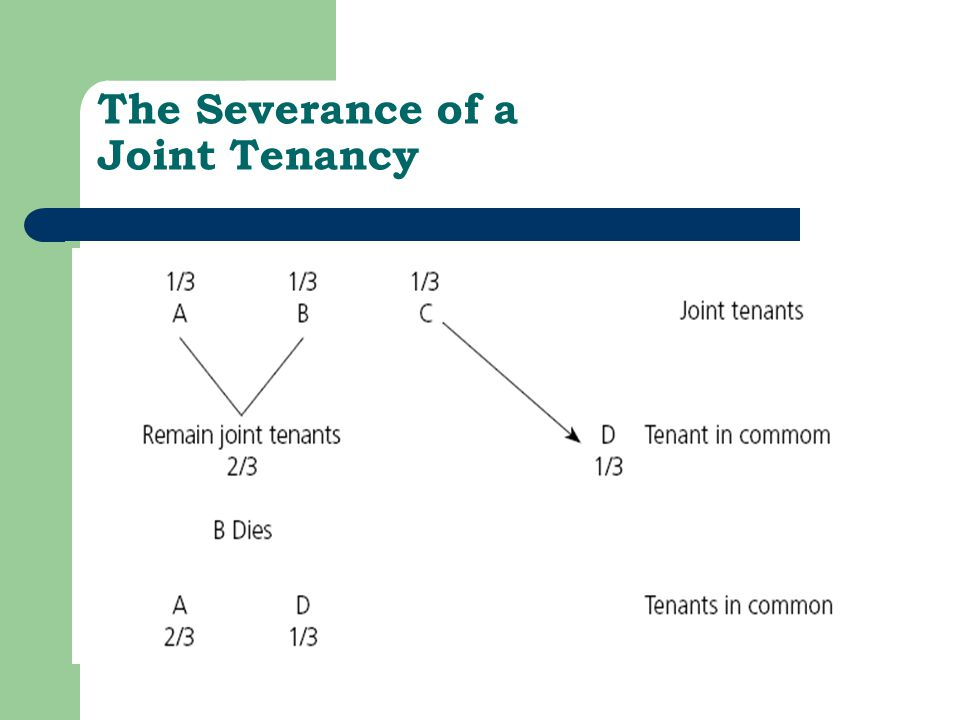 The Severance of a Joint Tenancy Figure 8.1