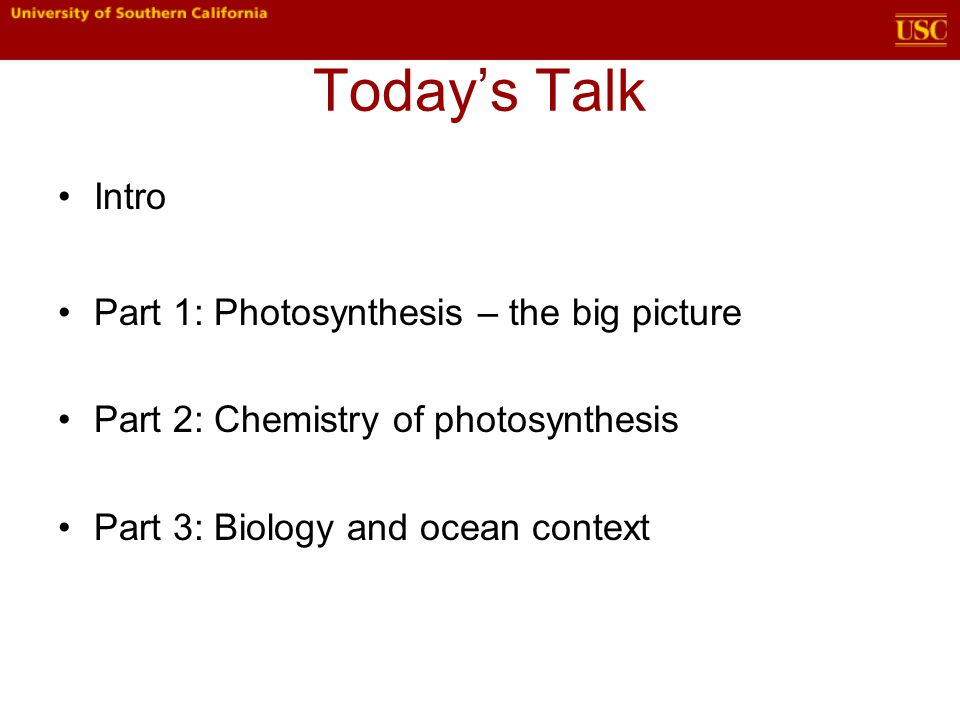 Today's Talk cont'd I've split this talk into three (roughly) even parts.