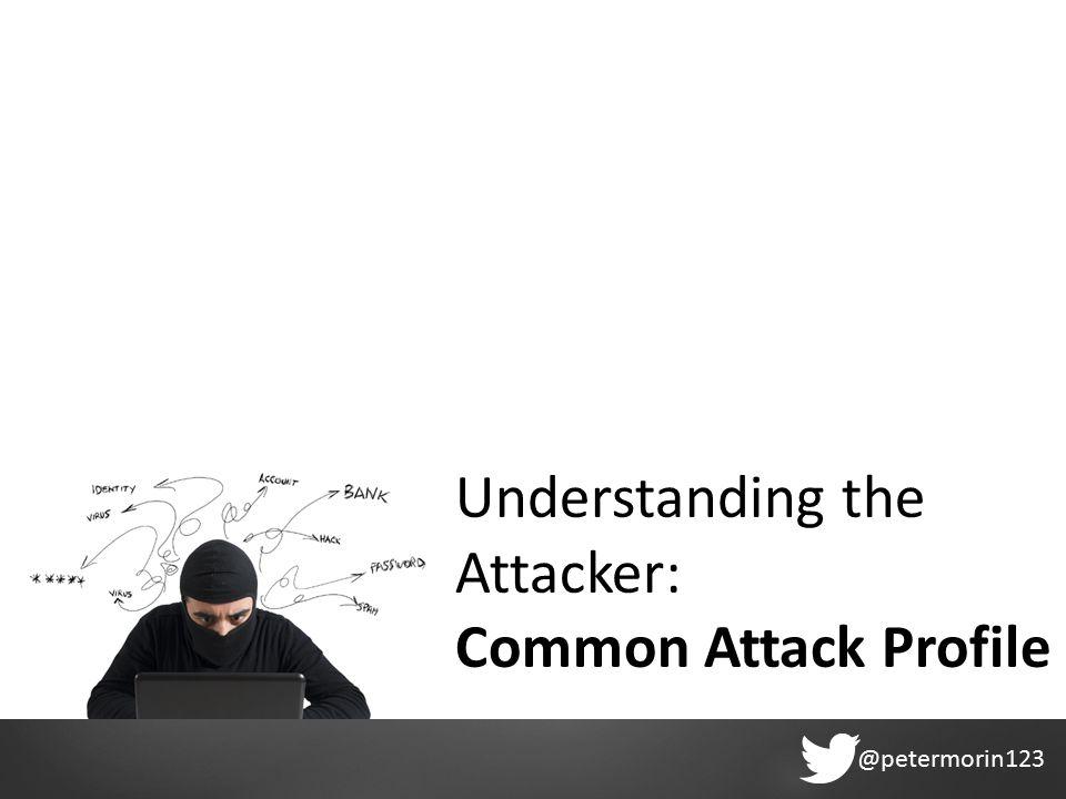 @petermorin123 Understanding the Attacker: Common Attack Profile