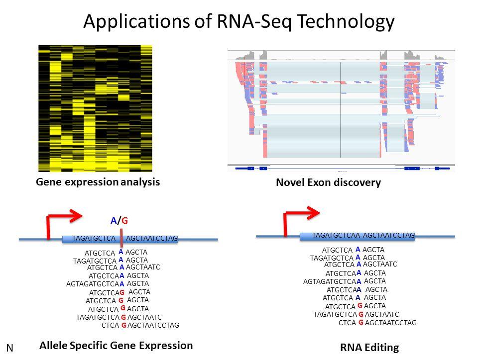 Applications of RNA-Seq Technology A A A A A G G G A A ATGCTCA AGCTA TAGATGCTCA AGCTA ATGCTCA AGCTAATC ATGCTCA AGCTA AGTAGATGCTCA AGCTA ATGCTCA AGCTA