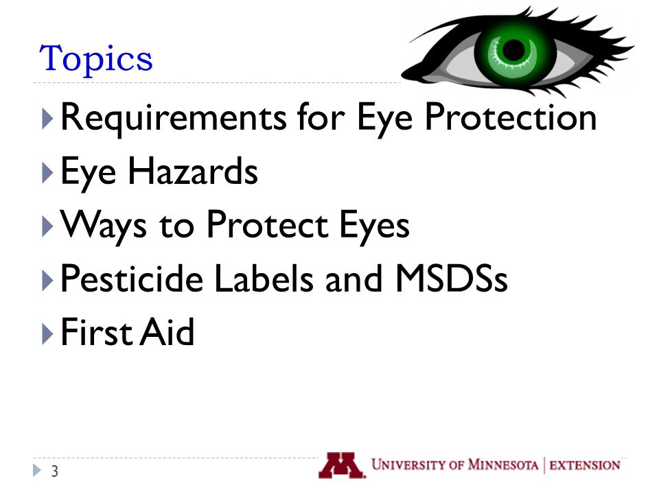 How often do you wear eye protection when using or handling pesticides.