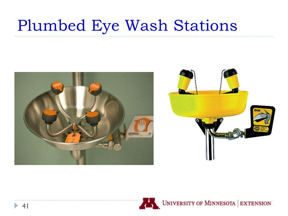 Plumbed Eye Wash Stations 41