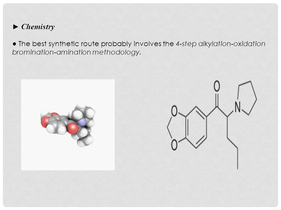 ► Chemistry ● The best synthetic route probably involves the 4-step alkylation-oxidation bromination-amination methodology.