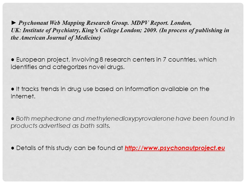 ► Psychonaut Web Mapping Research Group.MDPV Report.