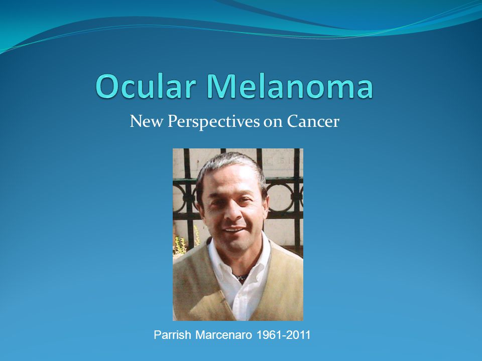 New Perspectives on Cancer Parrish Marcenaro 1961-2011