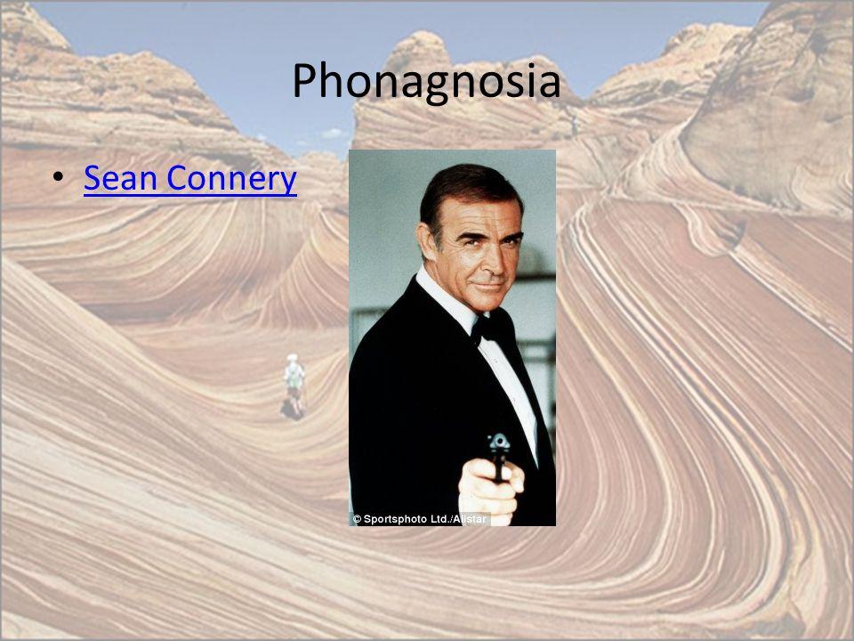 Phonagnosia Sean Connery