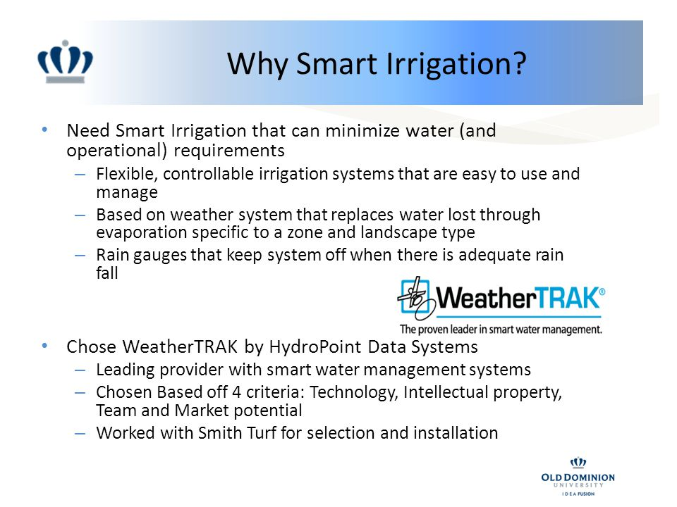 Why Smart Irrigation.