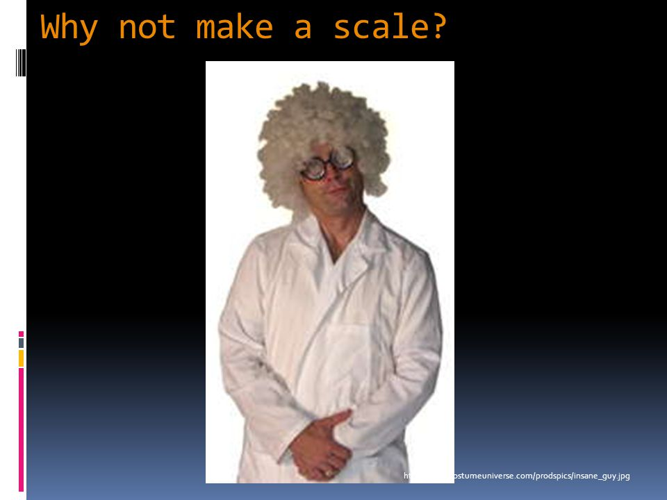 Why not make a scale? http://www.costumeuniverse.com/prodspics/insane_guy.jpg