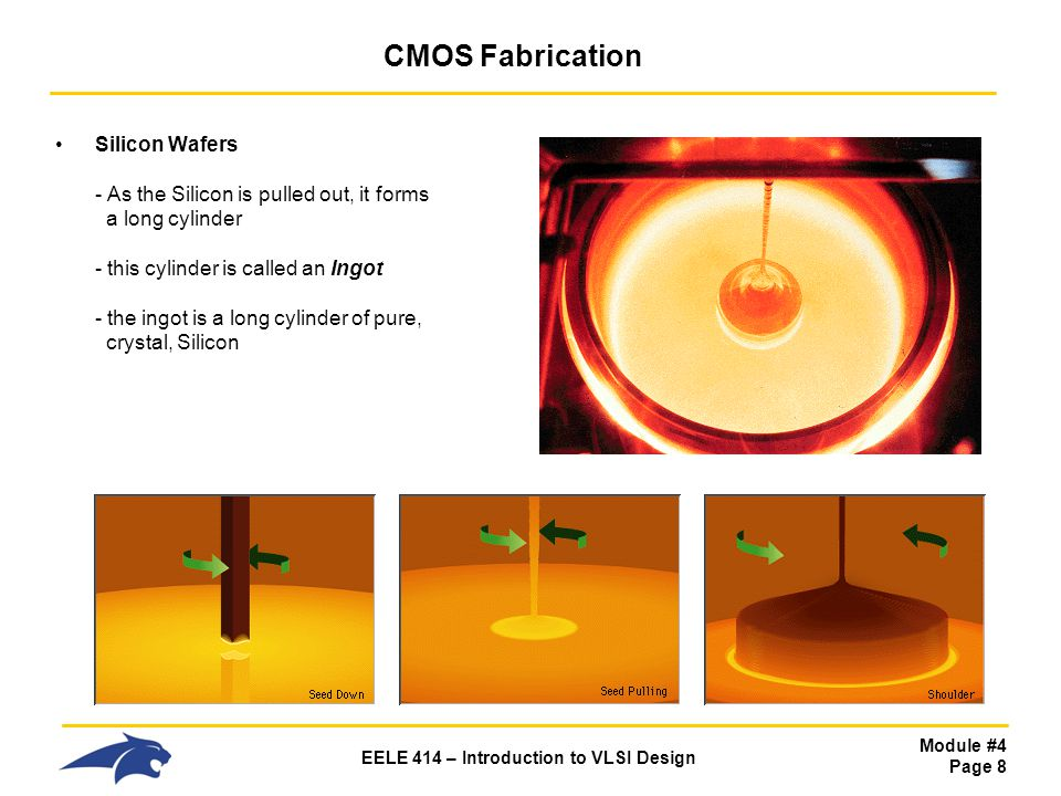 Module #4 Page 39 EELE 414 – Introduction to VLSI Design CMOS Fabrication