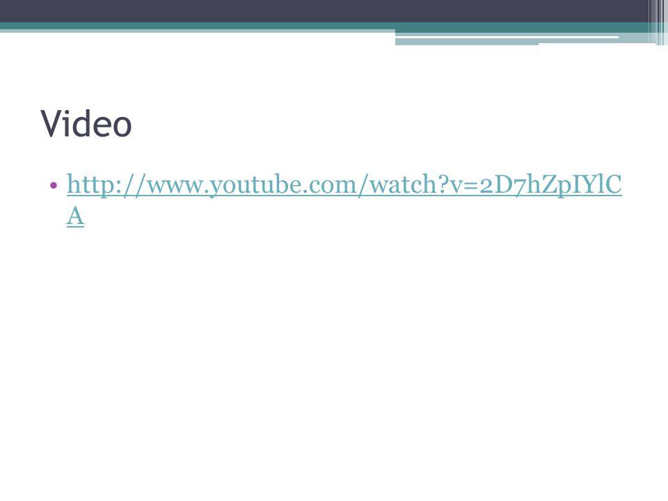 Video http://www.youtube.com/watch v=2D7hZpIYlC Ahttp://www.youtube.com/watch v=2D7hZpIYlC A