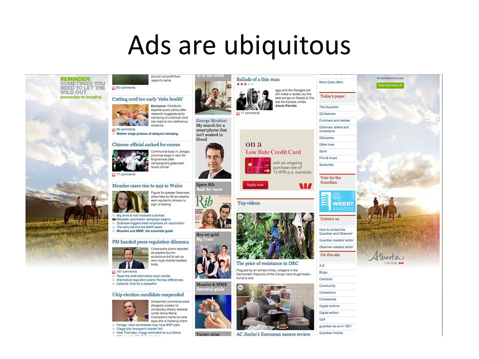 Ads are ubiquitous