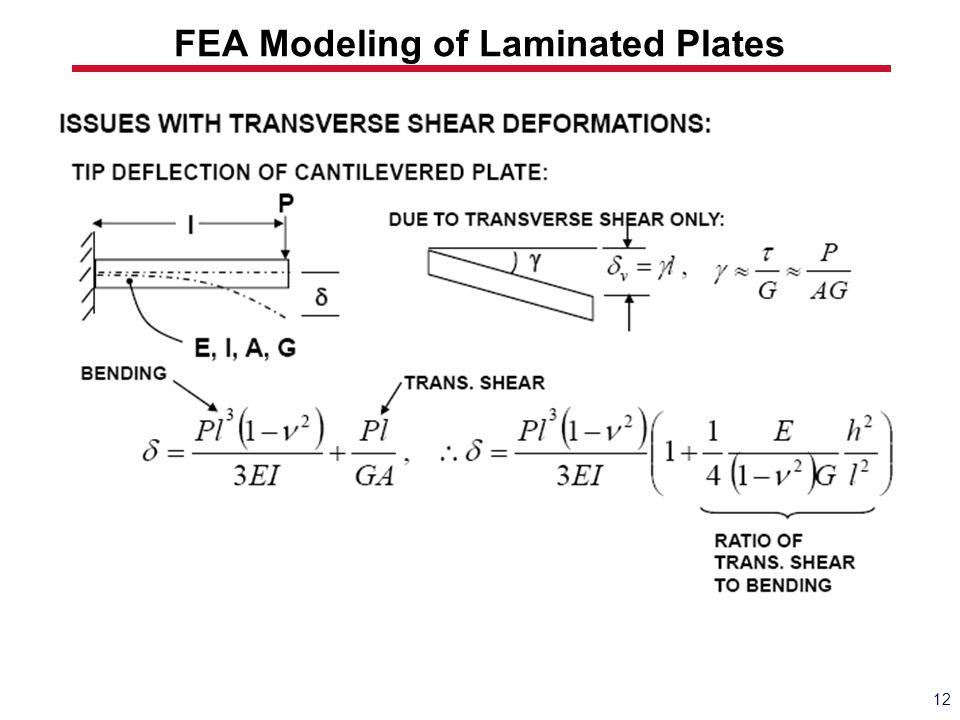 FEA Modeling of Laminated Plates 12