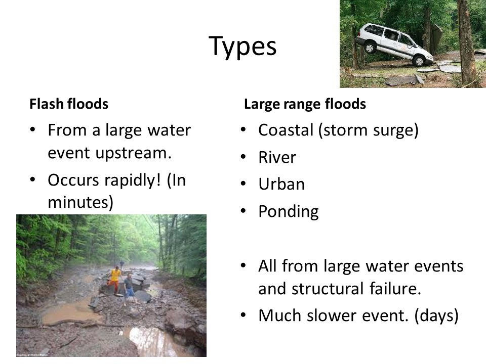Where Any low lying area is capable of flooding, but some areas are more susceptible.