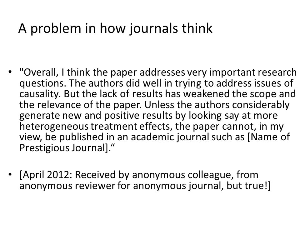 A problem in how journals think