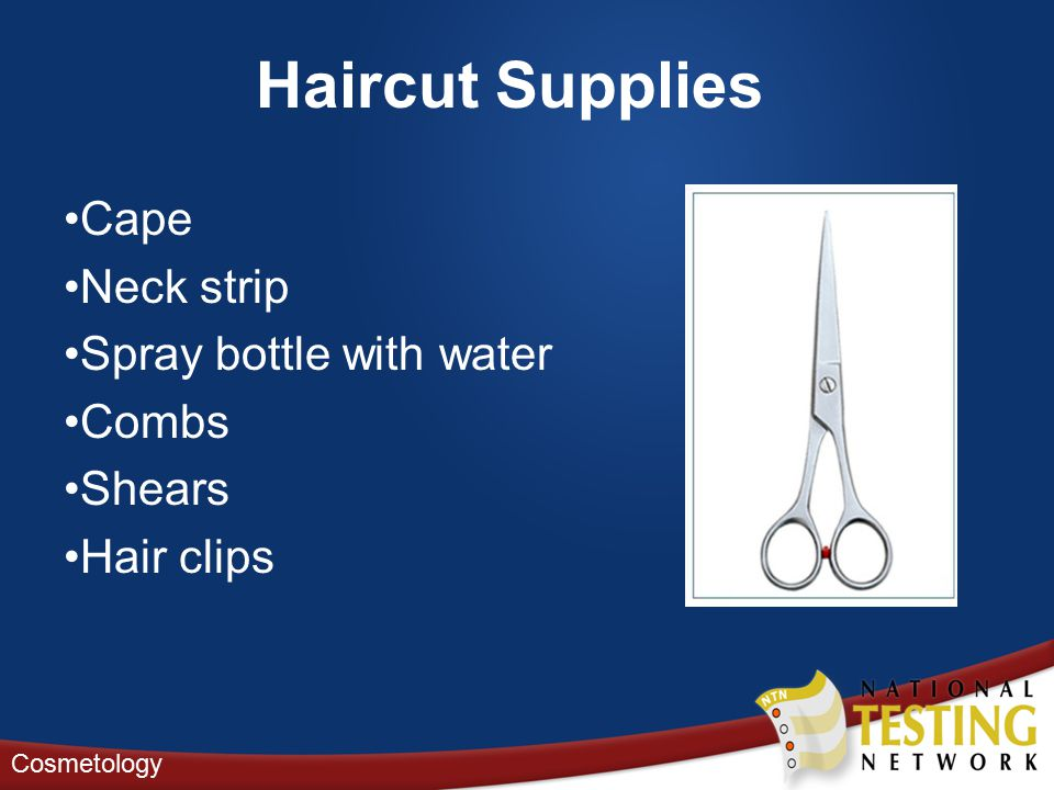 Haircut Supplies Cape Neck strip Spray bottle with water Combs Shears Hair clips Cosmetology