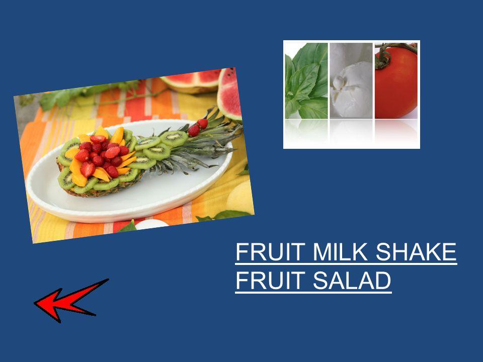 Ingredients:  2 bananas  200gr of strawberries  2 kiwis  60ml of milk  2 peaches PREPARATION To prepare a fruit milk shake start peeling the kiwis, chopping them and removing their white central part (1).